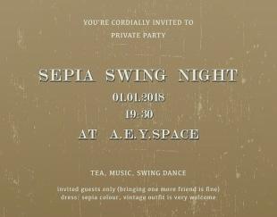 SEPIA SWING NIGHT